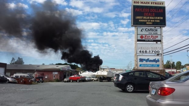 One man was critically inured when the vehicle he was working on at a local mechanic shop burst into flames.
