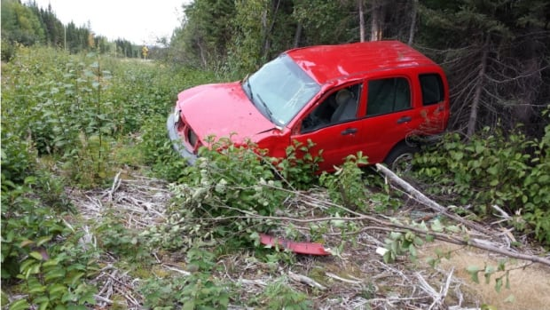 RCMP say the vehicle was found on Friday morning on Route 500, about a kilometre from Sheshatshiu.