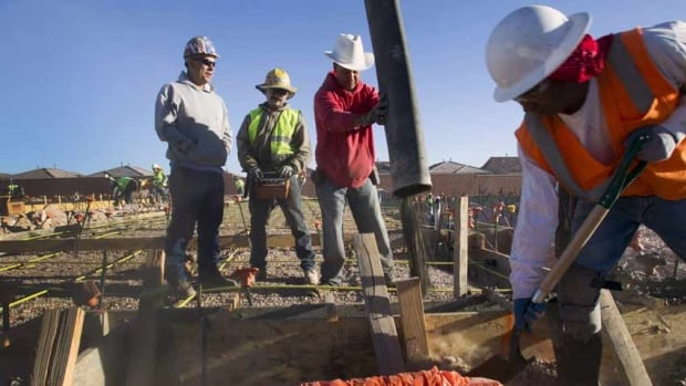 A work crew pours a slab for a new home in the southwest west part of the Las Vegas Valley in Nevada, which had the highest unemployment rate in the U.S. in August. The state's unemployment rate improved year-on-year from 11 per cent in August 2012.