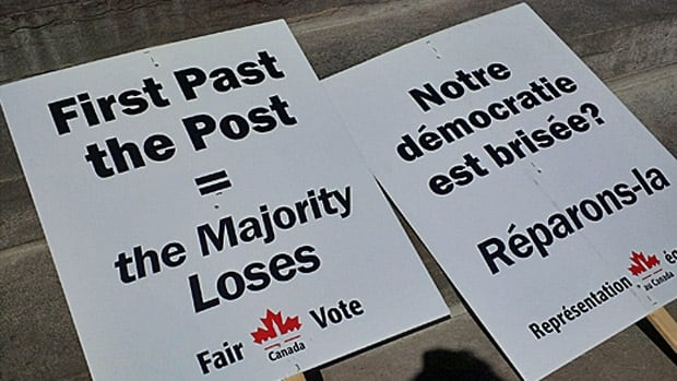 Fair Vote Canada held a rally on Parliament Hill, September 19, 2013 to urge supporters to sign a declaration in its Make Every Vote Count campaign. Fair Vote favours a voting system called proportional representation in which electoral seats match the results of the popular vote in an election.