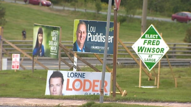 Election signs are up across St. John's for the upcoming municipal elections.