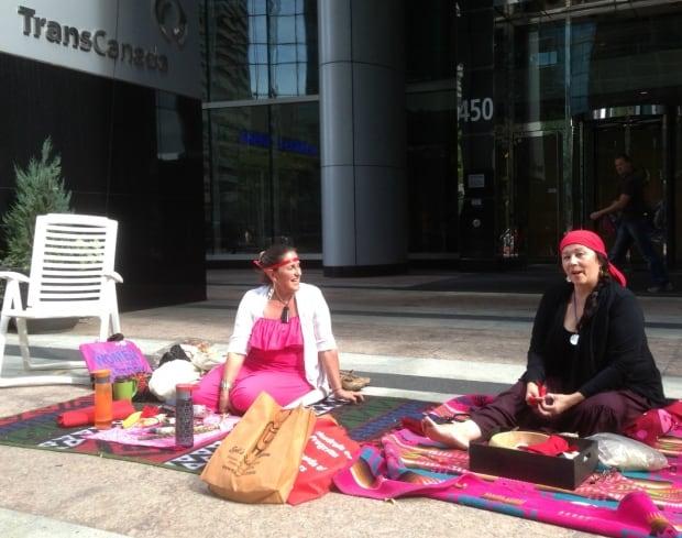 Calgary anti-keystone vigil