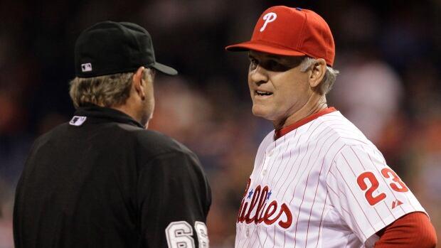 Philadelphia Phillies manager Ryne Sandberg took over for the fired Charlie Manuel last month.