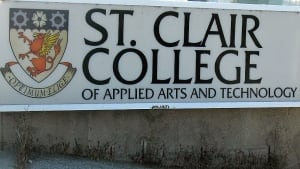 St. Clair College Sign