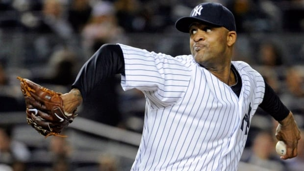 Yankees pitcher CC Sabathia suffered a Grade 2 strain in Friday's game against San Francisco and would need approximately eight weeks to recover, so his 2013 season is over.
