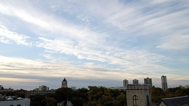 Clear skies and warm temperatures are making the first days of fall in Winnipeg feel much more like mid-summer.