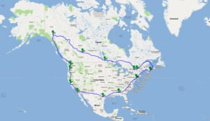 Dave Gill Route Map