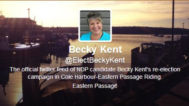 NDP says someone hacked into Kent's account and then had her follow anti-abortionists,  anti-Islamic groups and neo-Nazi supporters.