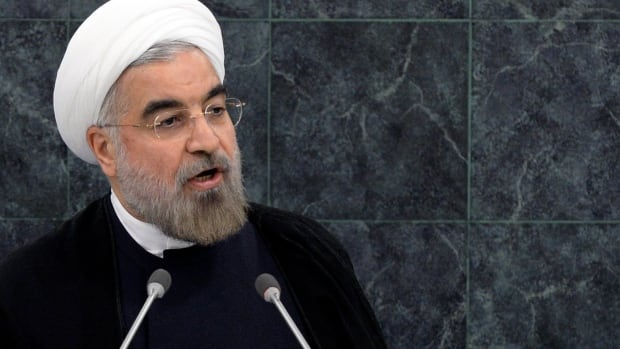"Iranian President Hassan Rouhani said Iran was ready to enter talks ""without delay"" and insisted his country was not interested in escalating tensions with the U.S. He said Iran must retain the right to enrich uranium, but he vigorously denied that his country was seeking to build a nuclear weapon."