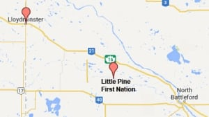 Map of Little Pine First Nation