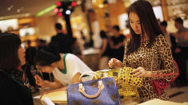 The luxury goods market in China, above, and other Asian countries is growing as the number of millionaires and billionaires continues to grow.