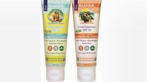 Badger sunscreen recall