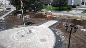 New Brunswick legislature walkway