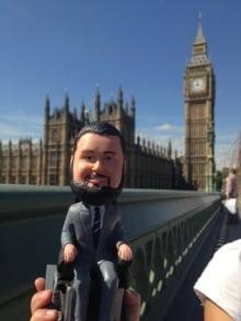 MP Steven Fletcher, bobble-head version