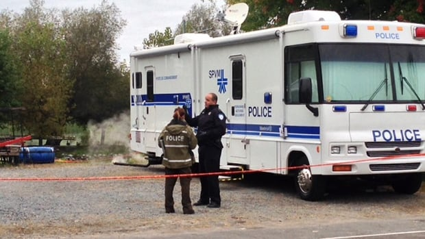 Montreal police investigators were on site in Ste-Anne-de-Sorel, Que., where the body of a man believed to be René Charlebois was discovered early Thursday morning.