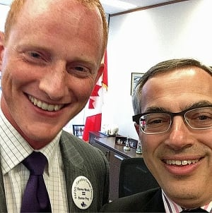PAFSO's Tim Edwards and Treasury Board President Tony Clement