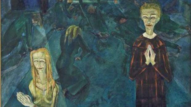 Detail from: Walter Gramatté, Die Beichte (The Confession), 1920. Oil on canvas.  Gift of the Eckhardt-Gramatté Foundation. 2009-621