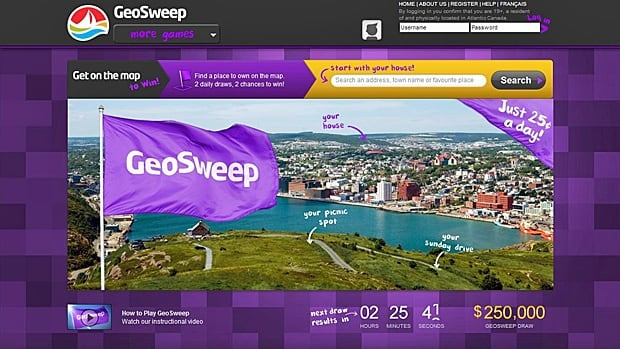 The final draw for the GeoSweep game in Atlantic Canada took place on July 4. The game launched in the region in 2012.