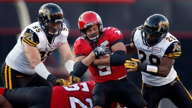 The Hamilton Tiger-Cats will have a tough time stopping Calgary Stampeders running back Jon Cornish when the two clubs clash on Saturday night.