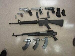 Peel drug gun bust