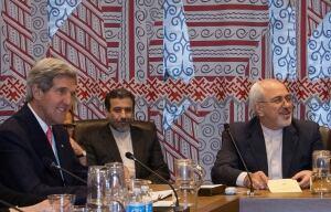 John Kerry meets Iran's Mohammad Javad Zarif