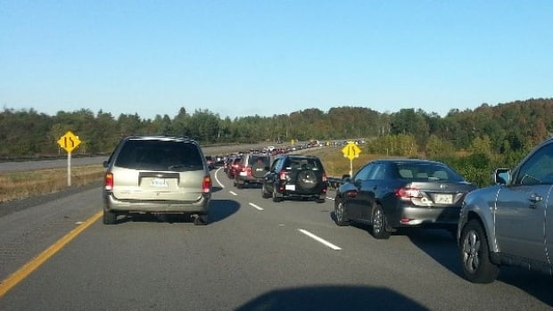 Highway 101 is a parking lot this morning