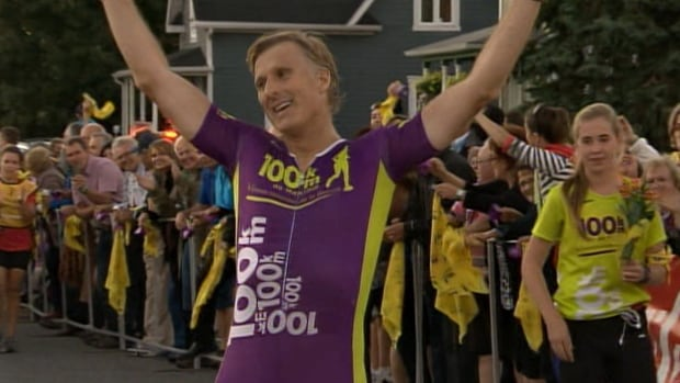 Conservative MP, Maxime Bernier, completed a 106 km run in about 13 hours.