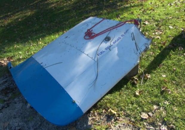 Broken float plane wing