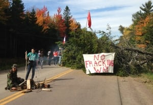 Route 134 blockade