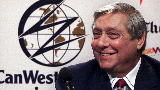 Izzy Asper is shown in this file photo from a news conference in Toronto on July 31, 2000.