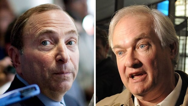NHL commissioner Gary Bettman, left, and NHL Players' Association executive director Donald Fehr, right, aren't looking back at the 113-day lockout.  But Fehr hasn't forgotten what he and the players went through.