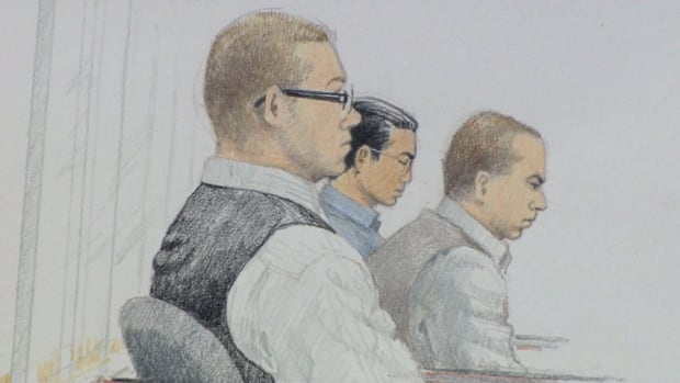 Matthew James Johnson, Cody Rae Haevischer and Quang Vinh Thang (Michael) Le all pleaded not guilty to first-degree murder charges at the start of the Surrey Six trial.