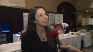 Melanie Agopian, Loblaws' senior director of sustainability, at the 2013 World Seafood Congress