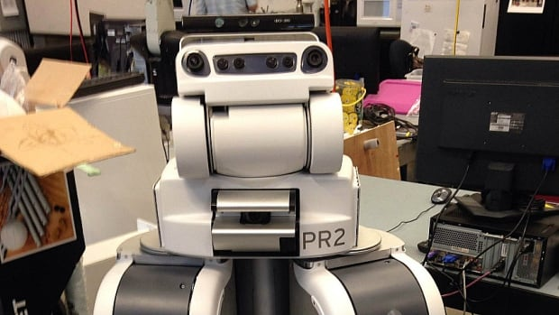 Charlie is a Willow Garage PR2 robot and the only one in Canada.