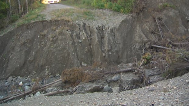 West River Road washout
