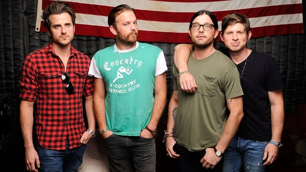 Kings of Leon from Nashville, Tenn., is, from left to right, Jared Followill, Caleb Followill, Nathan Followill and Matthew Followill.
