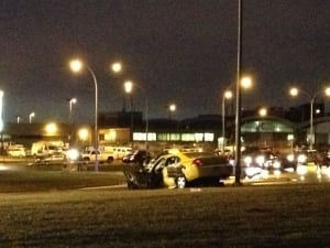 Crash involving taxi cab leaves man on life support