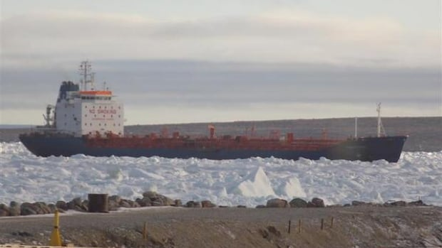 The tanker was stuck just offshore outside Igloolik for several days.