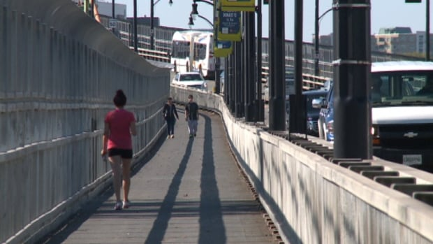 The cycling and pedestrian lanes will be removed in 2015.