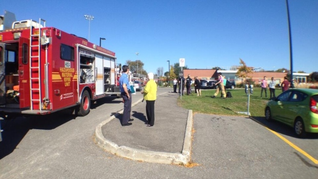 Building V on the Algonquin college campus was evacuated on Wednesday afternoon.
