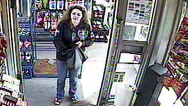 Dana Jane Turner, 31, is seen on surveillance video taken on Aug. 14 at the Domo gas station located at 17765 98A Avenue in west Edmonton