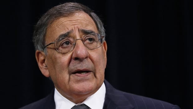 U.S. Secretary of Defence Leon Panetta addresses a news conference during a NATO defence ministers meeting at the alliance's headquarters in Brussels on Wednesday.