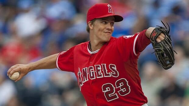 Starting pitcher Zack Greinke has decided to stay in Los Angeles - only not with the Angels. Greinke has officially signed on with the National League's Dodgers for three years.