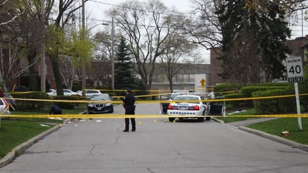 Police investigate the circumstances surrounding the stabbing of a Toronto police officer on Sunday night.