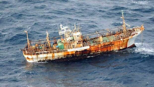 The U.S. Coastguard sank an unmanned Japanese fishing boat after Canadian crews failed to salvage the ship spotted floating off the coast of Haida Gwaii in March.