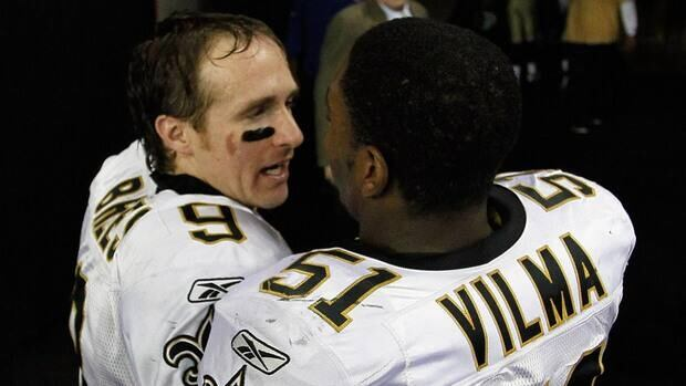 Drew Brees praises Jonathan Vilma's leadership role on the team and his importance to the community in the filed document.