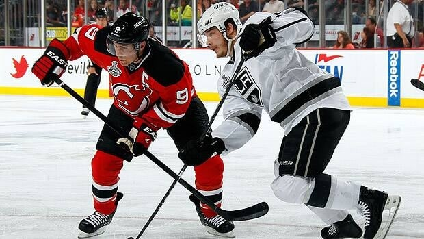 New Jersey winger Zach Parise, left, hopes to remain a Devil next season.