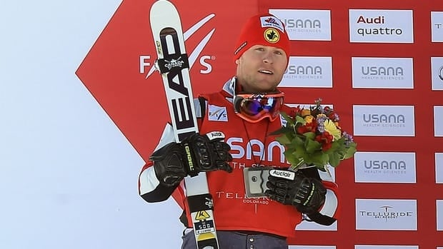 Brady Leman of Canada after the men's Audi FIS Ski Cross World Cup race on December 12, 2012 in Telluride, Colorado.