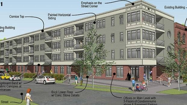 Artist's conception of the proposed development.