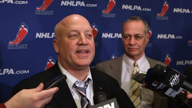 The NHL's Bill Daly, left, and the NHLPA's Steve Fehr, right, met jointly with reporters last week before talks imploded.